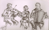 A drawing we got after a gig in Celtic Connections for a som years ago ...
