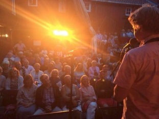 Snowflake Trio - the crowd in Arendal. august 2014 Photo: Nuala Kennedy